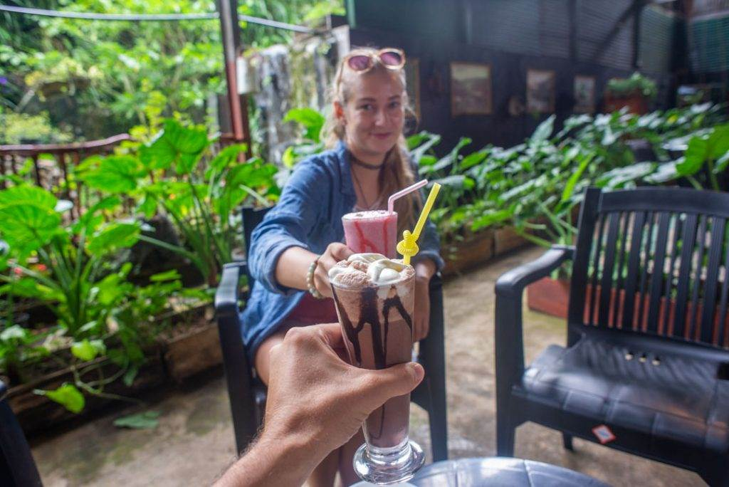 drinking a fresh milkshake is one of the best things to do in nuwara eliya