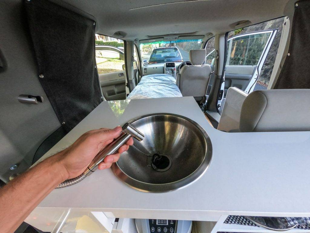 sink in a campervan