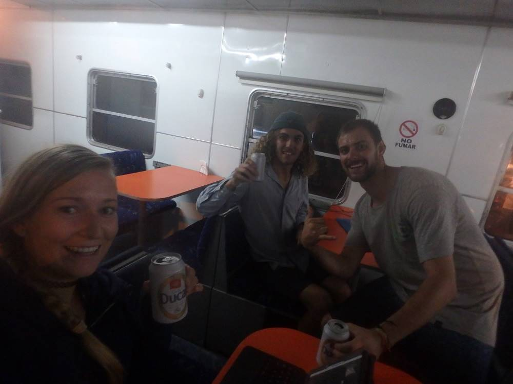 beers on the death train bolivia