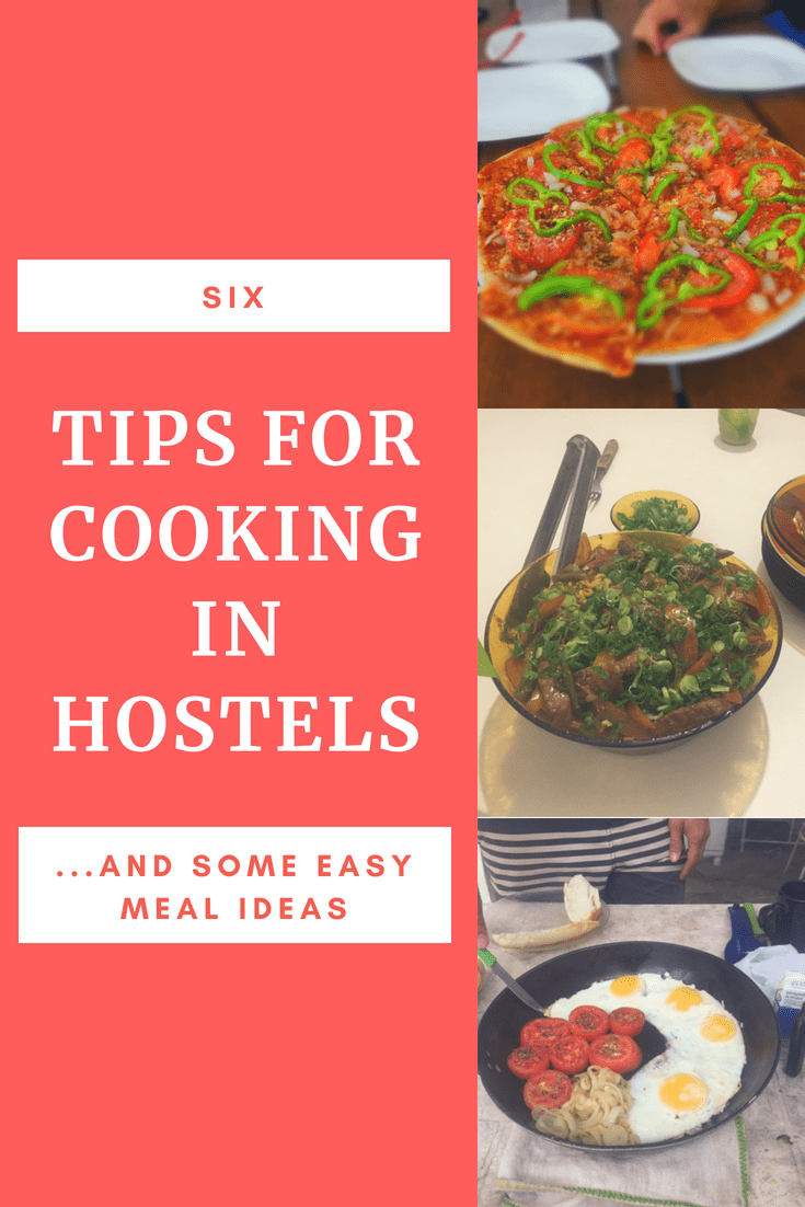 cooking in hostels tips for pinterest
