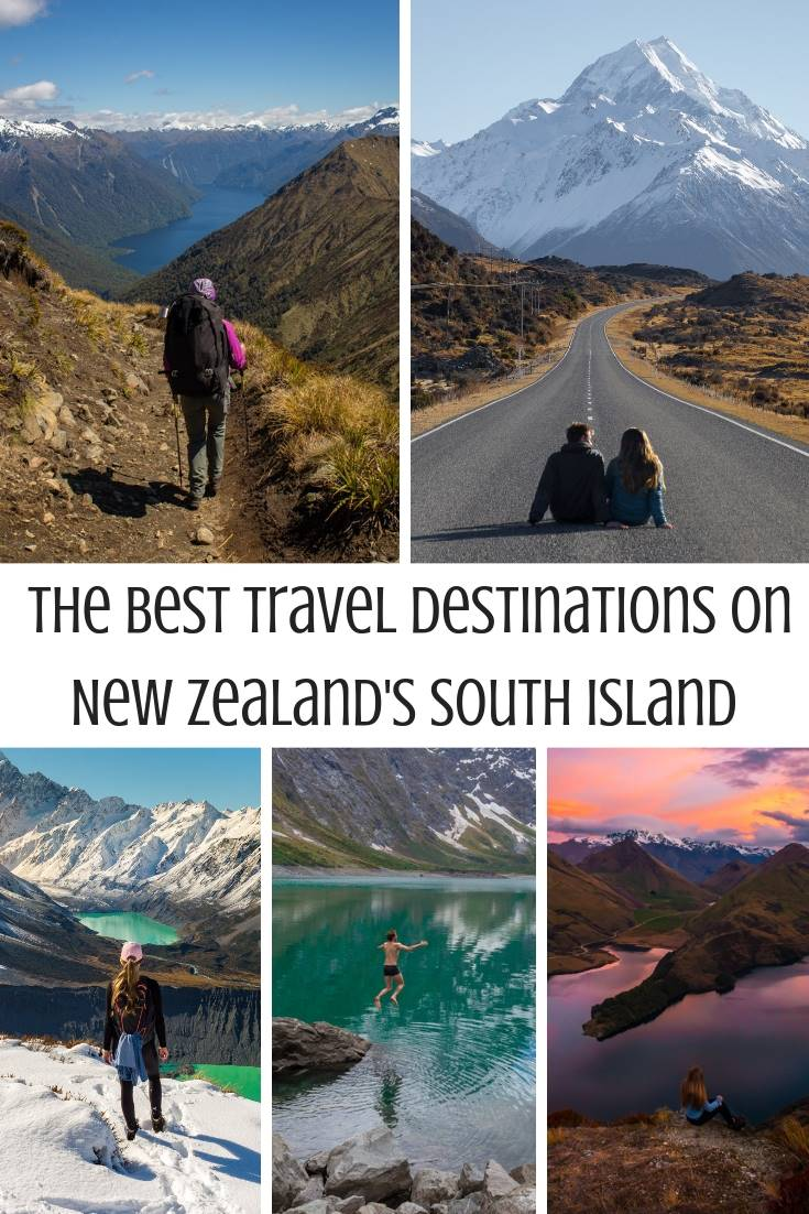 New Zealand South island destinations pin