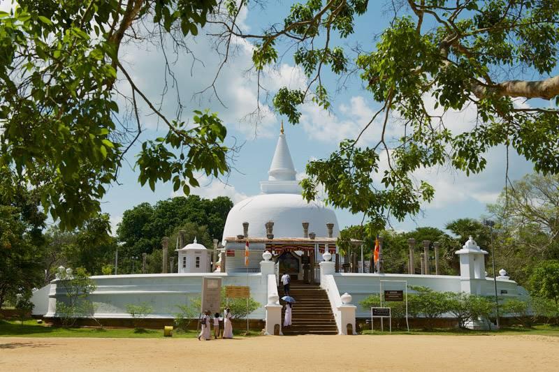 Lankaramaya Stupa in Anuradhapura, Sri Lanka