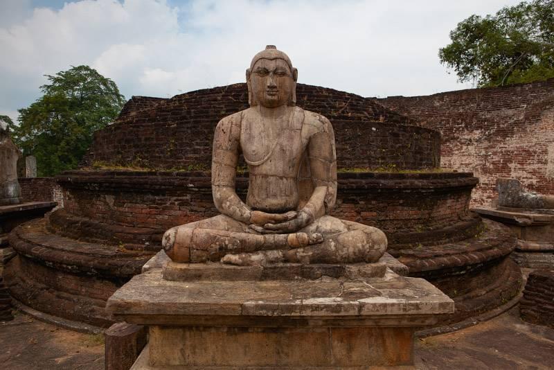 ruins in Polonnaruwa, Sri Lanka