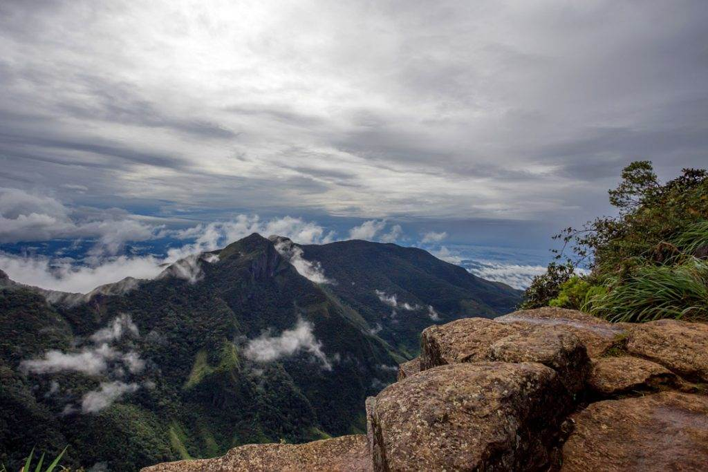 View from Worlds End within the Horton Plains National Park in Sri Lanka.