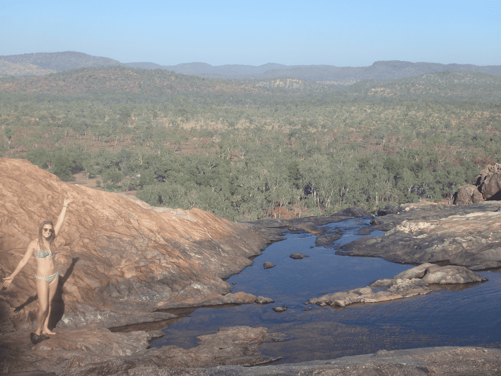 gunlom falls at kakadu national park