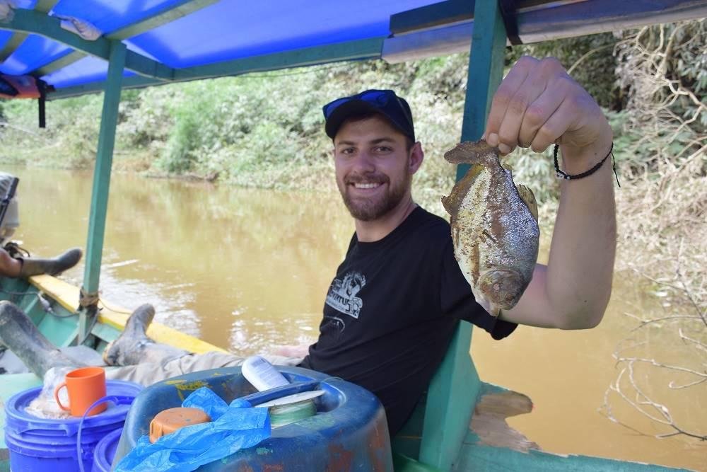 piranha fishing in the amazon jungle