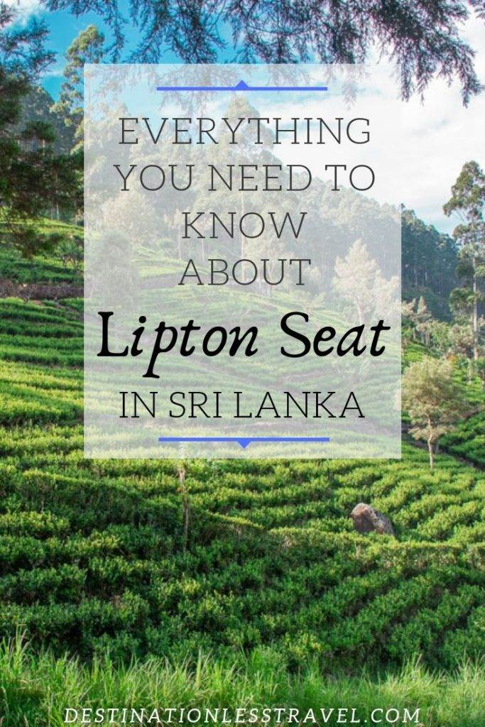 Lipton Seat Sri Lanka Pin