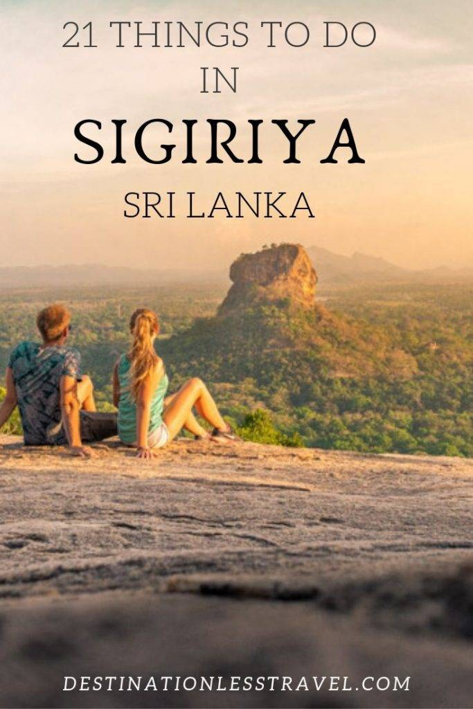 Things to do in Sigiriya Pin for Pinterest
