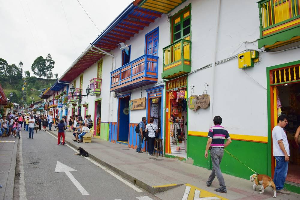 The colorful streets of Salento Colombia
