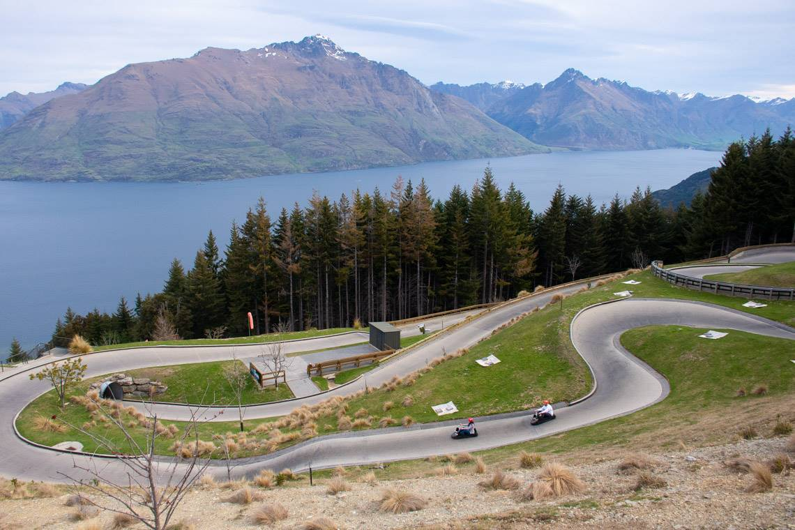 the luge track at skyline queenstown