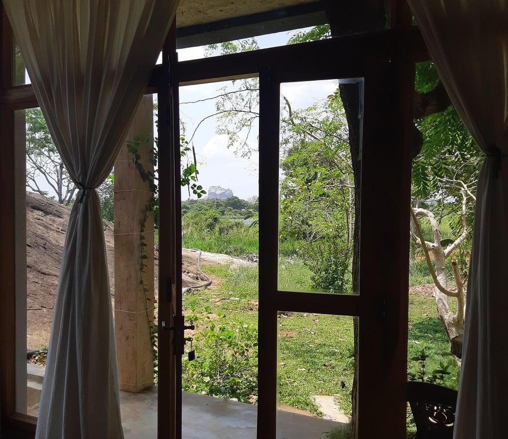 view from our hotel in Sigirya, sri lanka