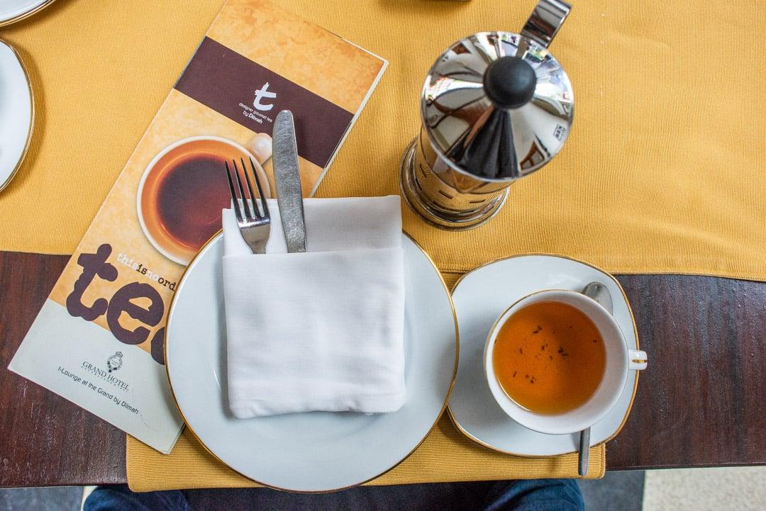 Grand Hotel High tea Nuwara Eliya