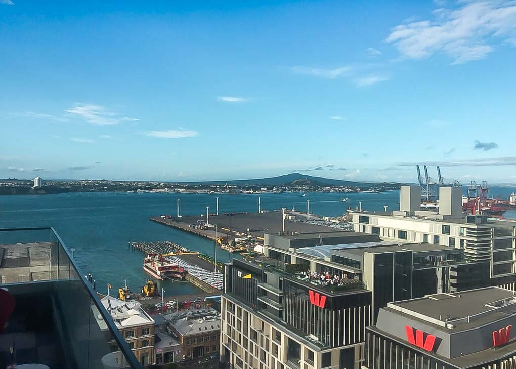The view from Hi-So Bar in Auckland!