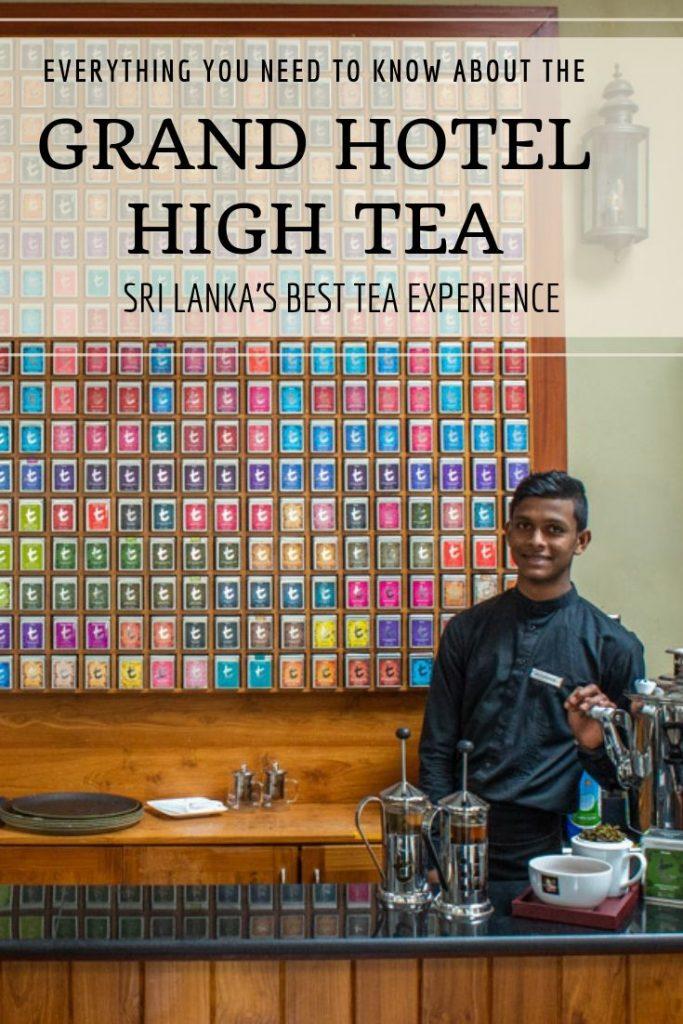 Grand Hotel High Tea Pin