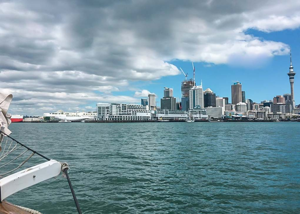 Sailing through Auckland's Harbor