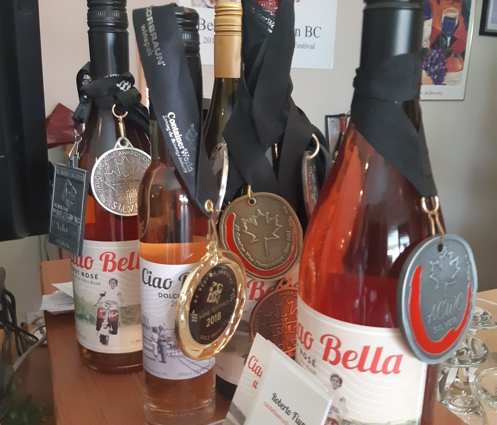 award-winning ciao bella wines in kelowna