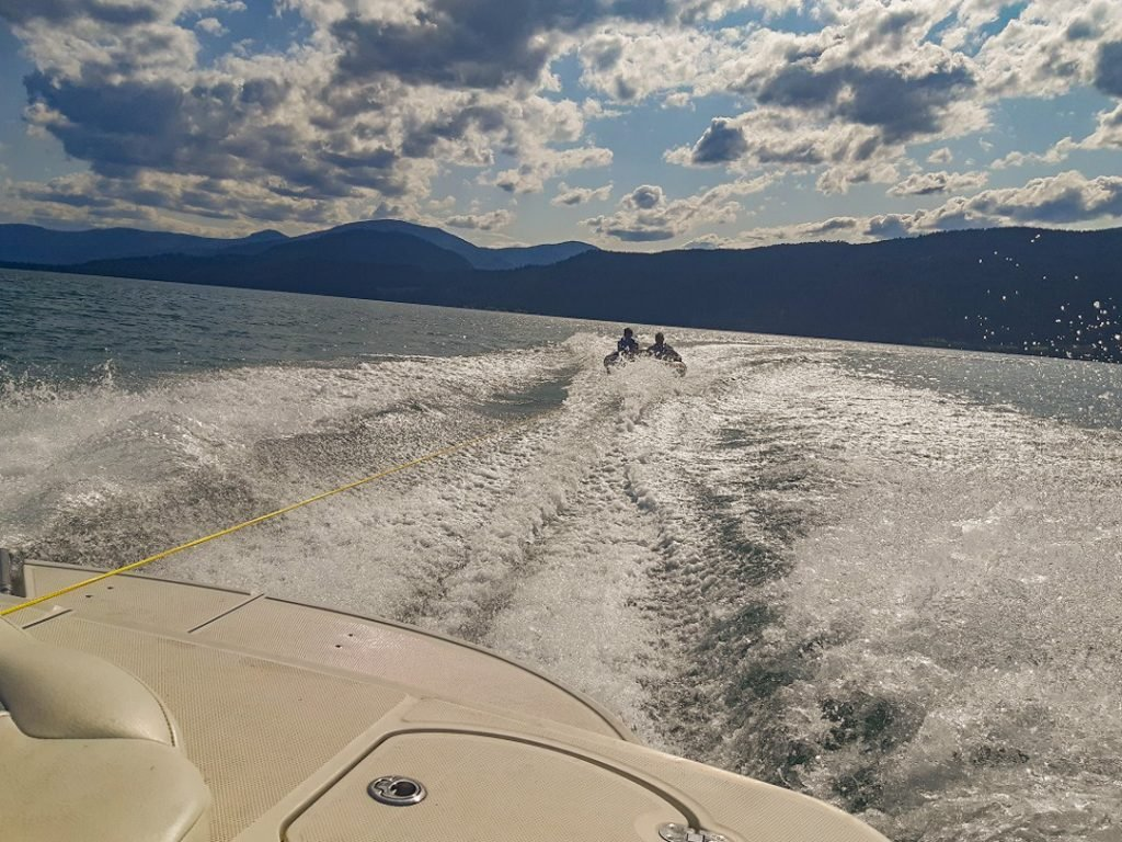 Tubing on Lake Okanagan!