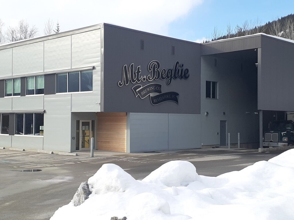 the outside of the Mt Begbie Brewery and tasting rooms