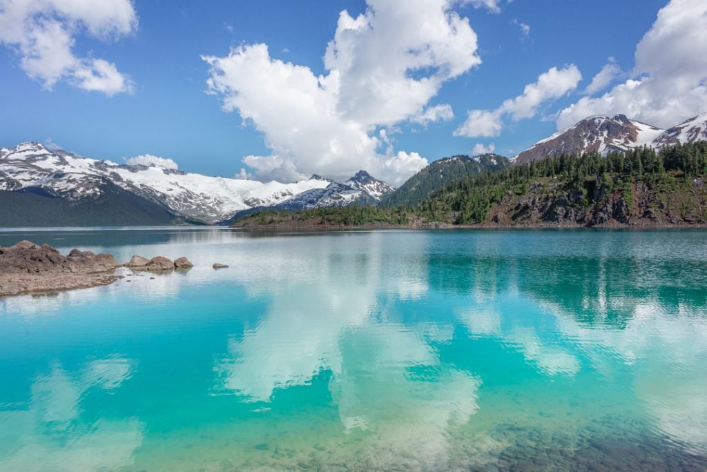 Garibaldi Lake on a hot summers day!