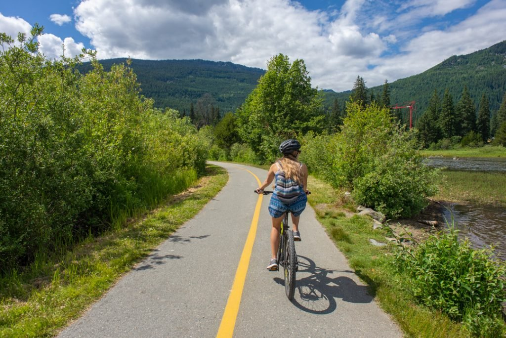 Mountain Bike Riding in Whistler in Summer