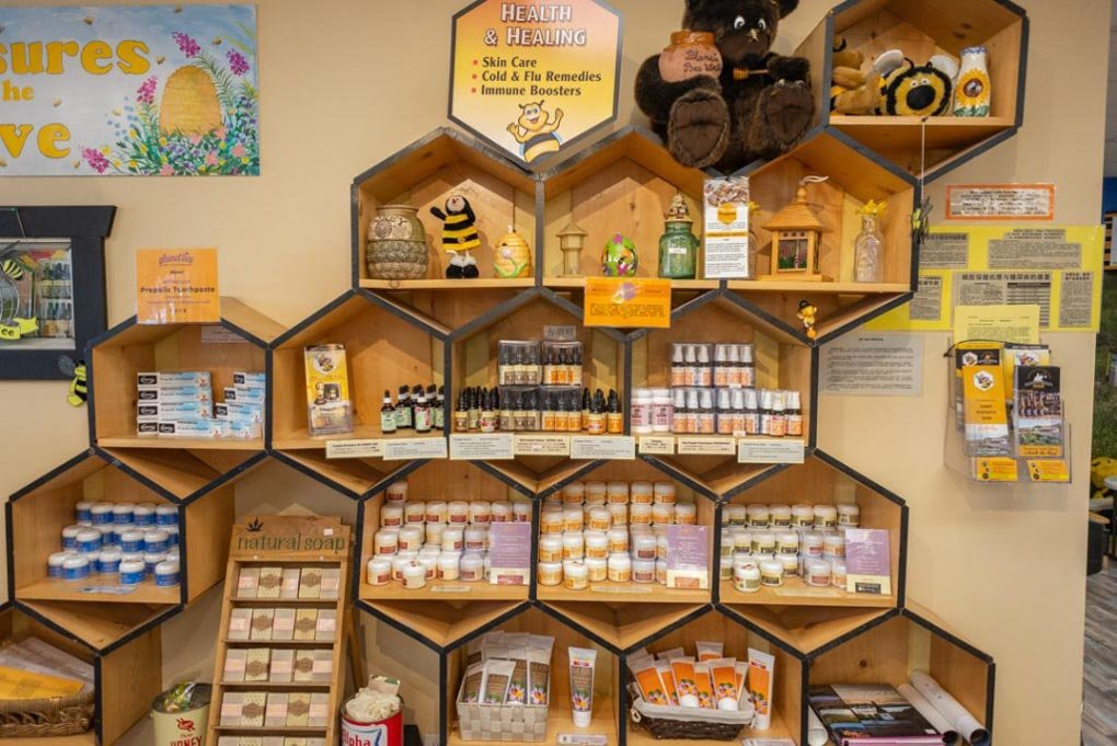 Planet B honey in Vernon BC, Canada