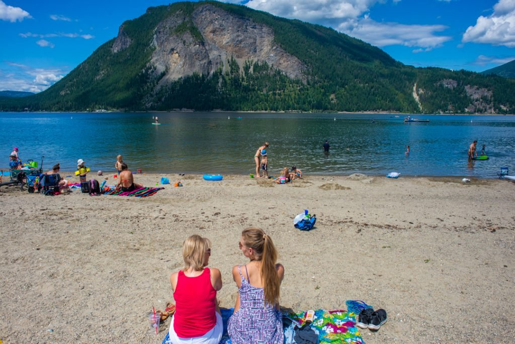 Relaxing at Canoe Beach, Salmon Arm, BC