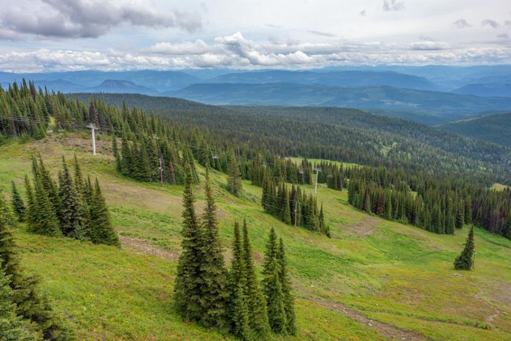 The views from the chairlift at Silver Star Mountain Resort near kelwona, BC