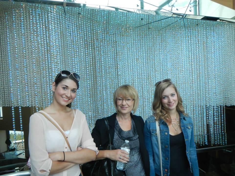 three girls inside Sparkling Hills  Resort & Spa