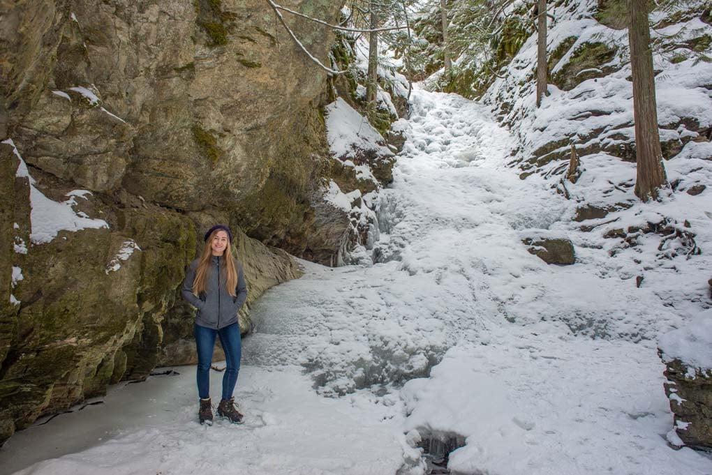 BX Falls, Vernon in winter