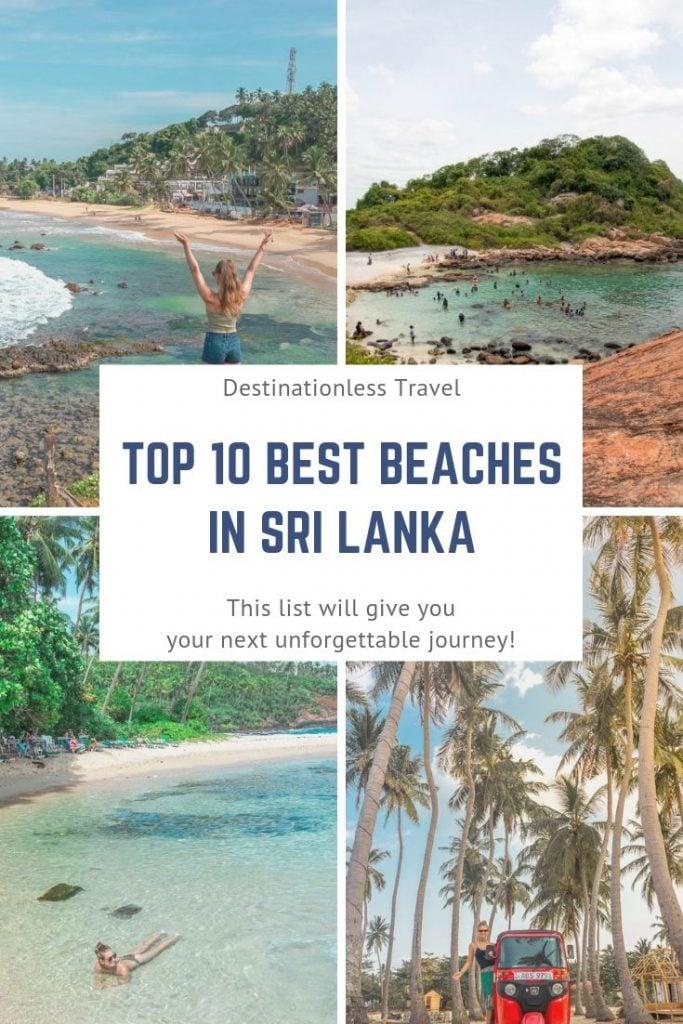 Best beaches in Sri Lanka Pin