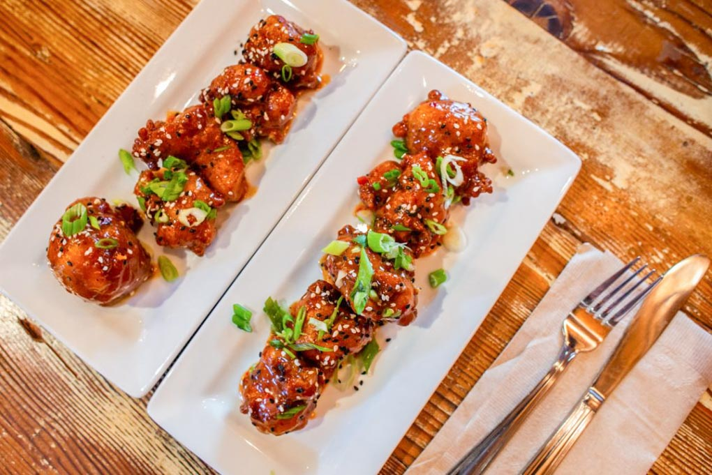Fried cauliflower on or food tour in Vancouver, Canada