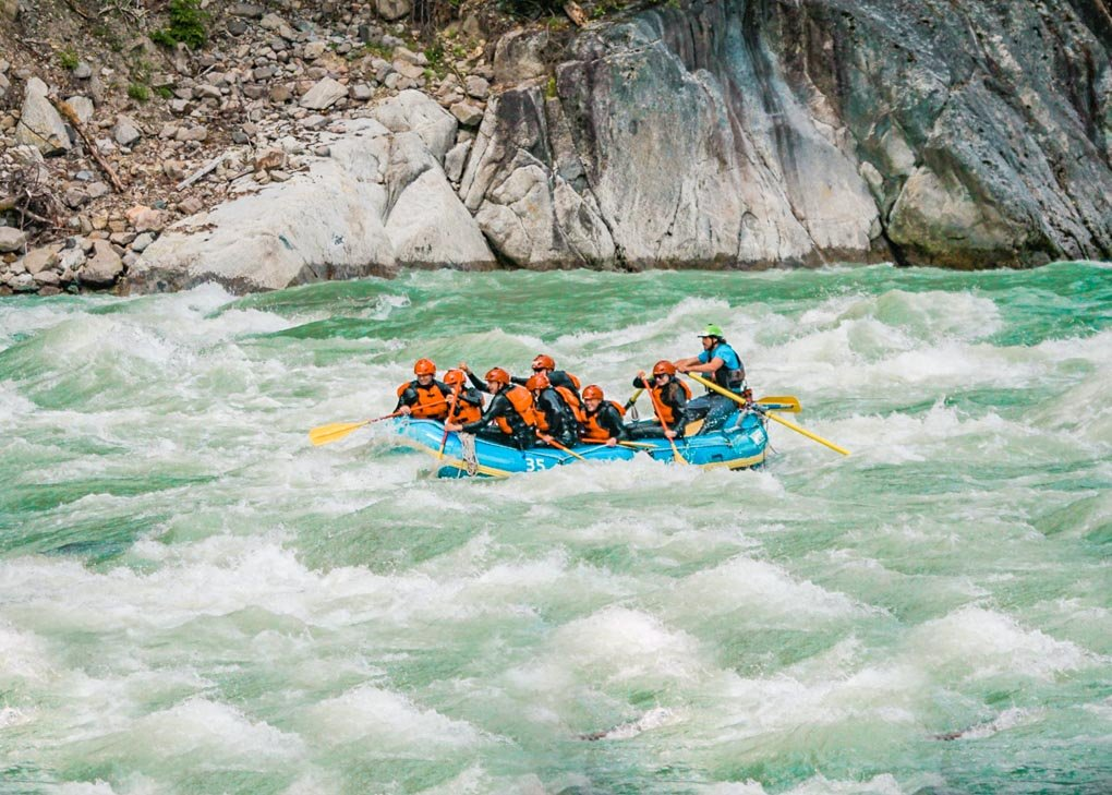 White water rafting in Whistler, BC