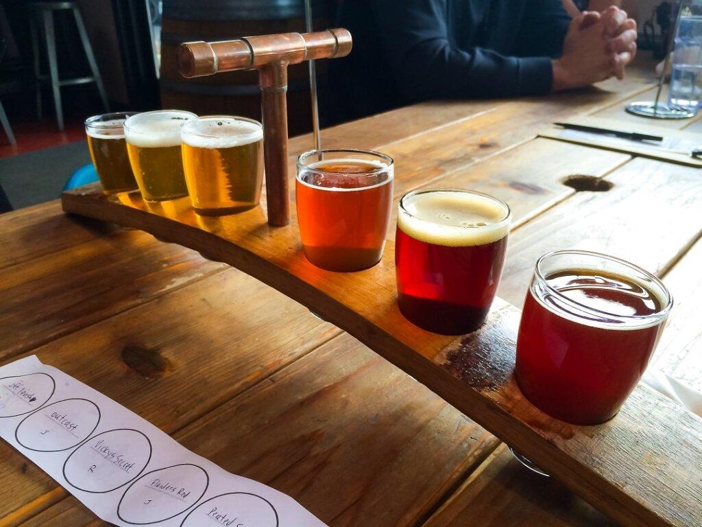 flight-of-different-craft-beers
