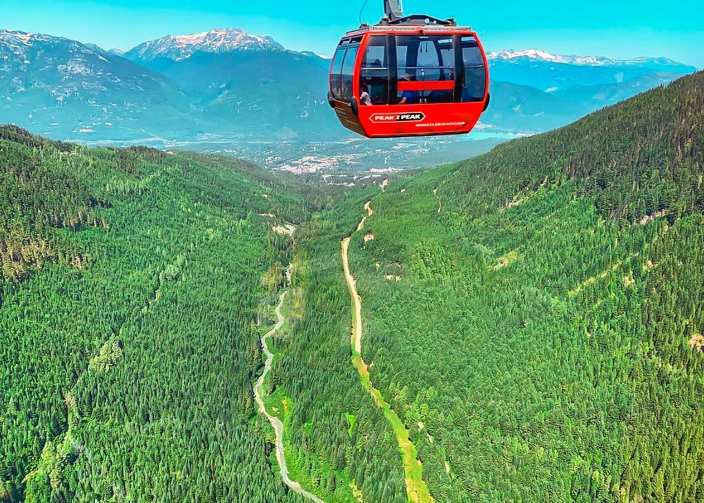 Views from the Peak to Peak Gondola in Whistler, Canada