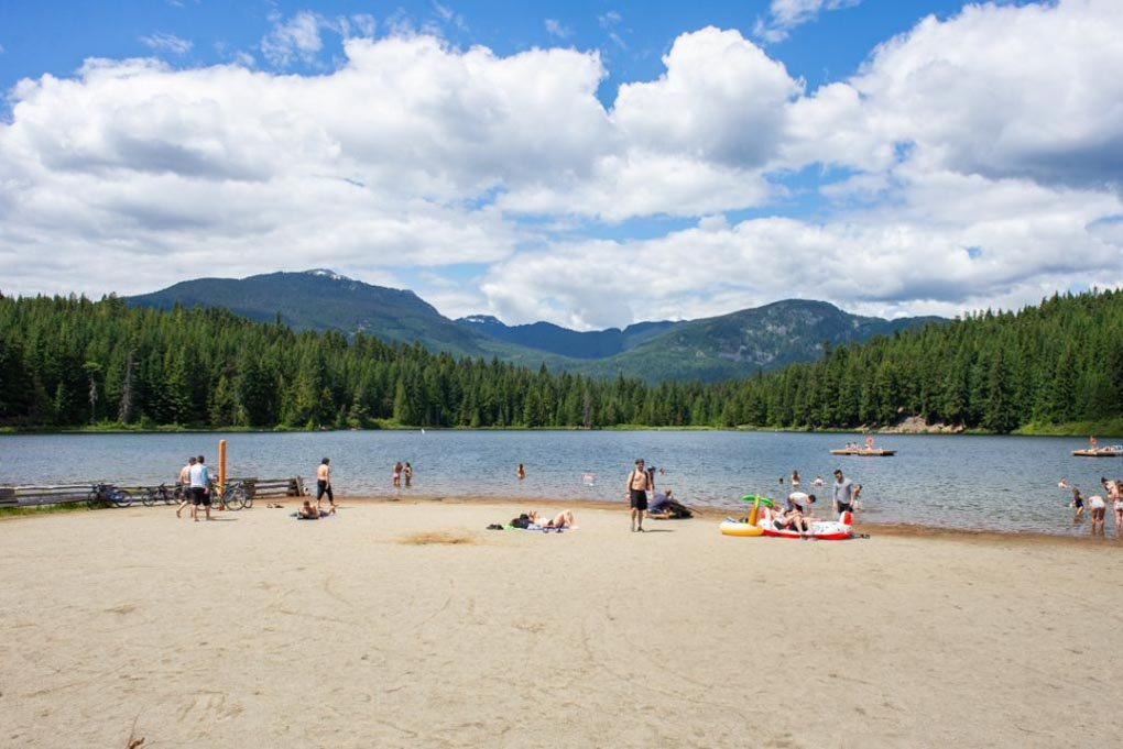 Lost Lake, Whistler on a sunny summers day
