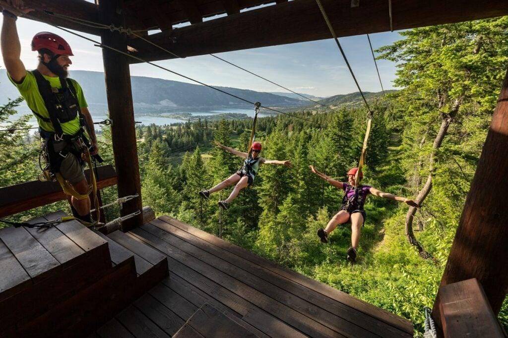 oyama zipline adventure park near kelowna