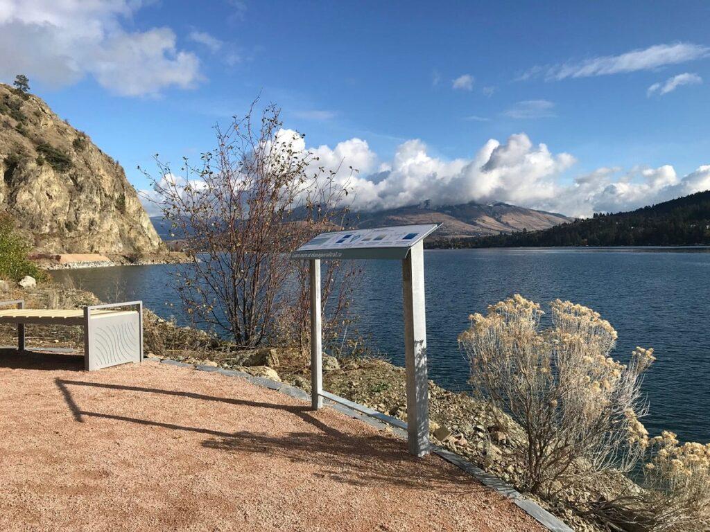 a viewpoint along the Okanagan Rail Trail in Vernon, BC