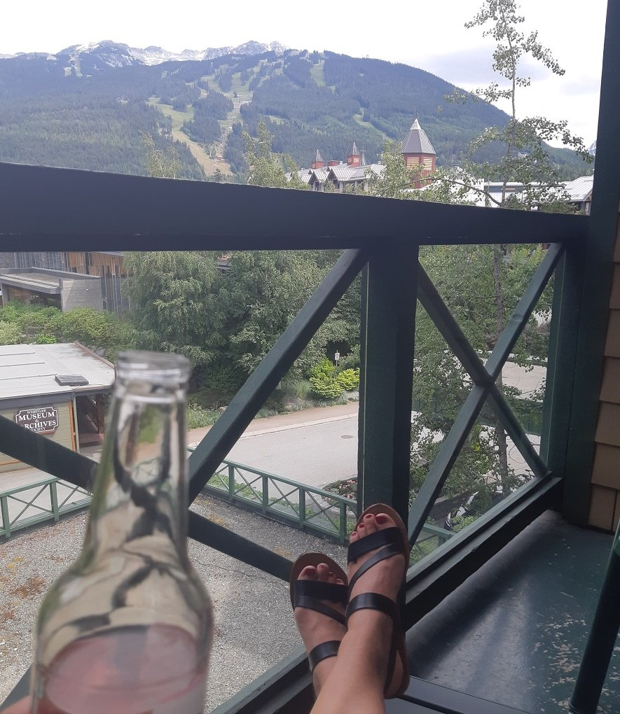 mountain view from our Whistler hotel balcony