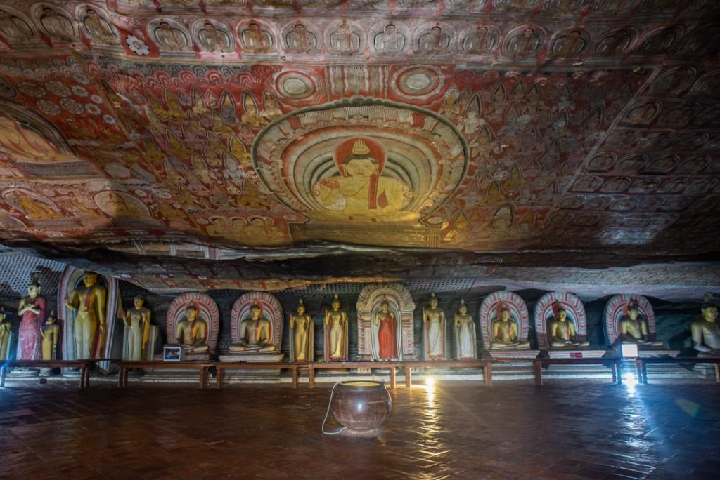 Another photo on the inside of the Dambulla Cave Temples in Sri Lanka