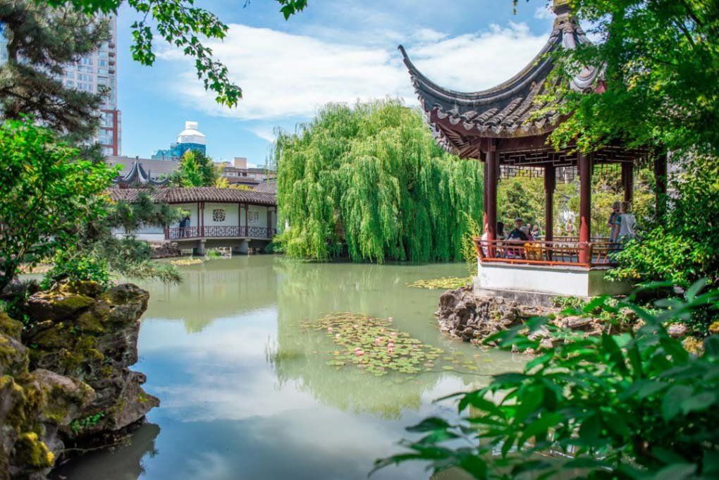 The beautiful Dr. Sun Yat-Sen Traditional Chinese Gardens in downtown Vancouver