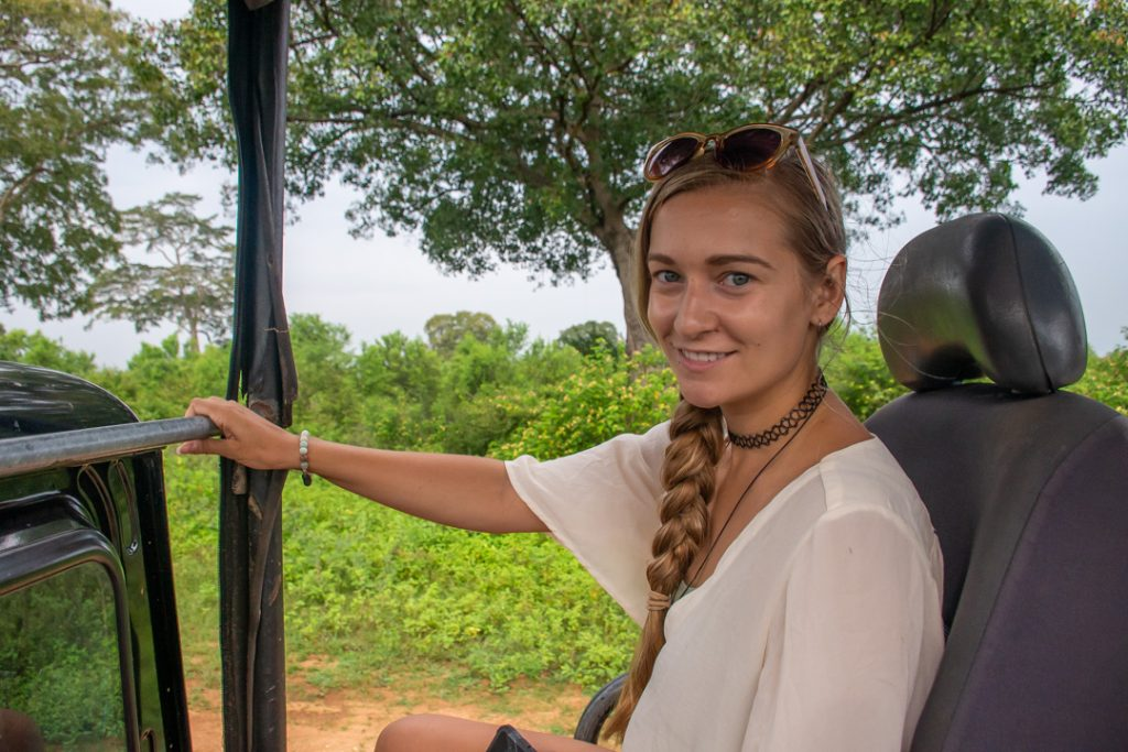 Me on safari in Sri Lanka