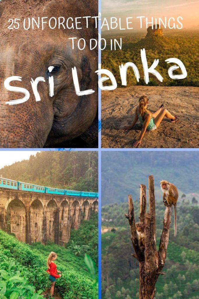 Things to do in Sri Lanka Pin