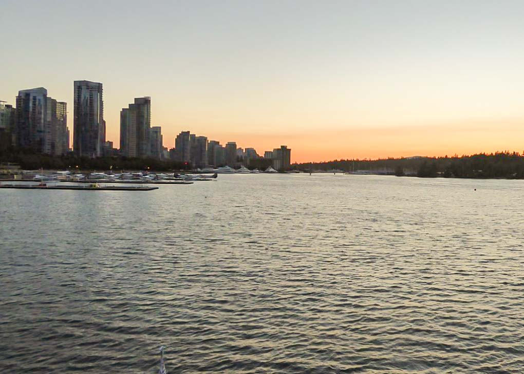 The views of Vancouver on a Vancouver sunset cruise