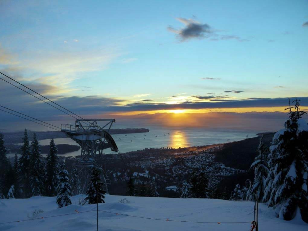 View from Grouse Mountain at sunset.