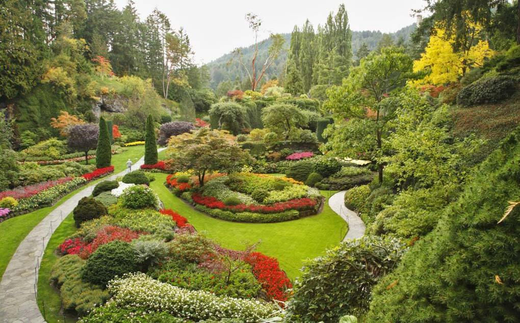 The beautiful Butchart Gardens in Vancouver, BC