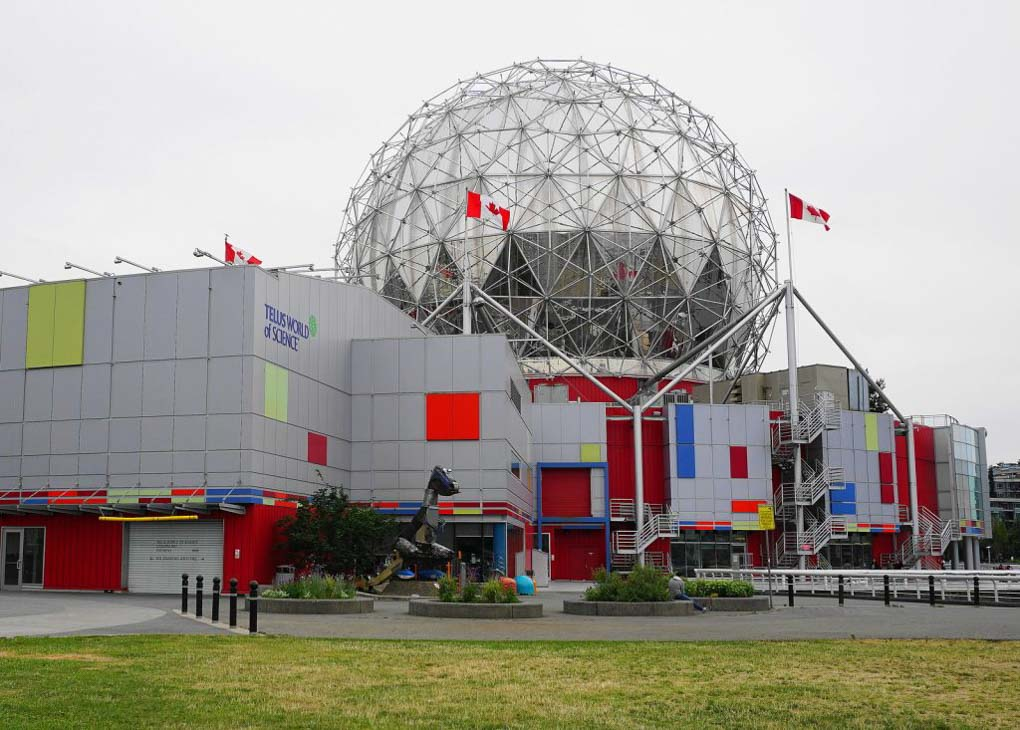 Telus World of Science building in Vancouver, BC