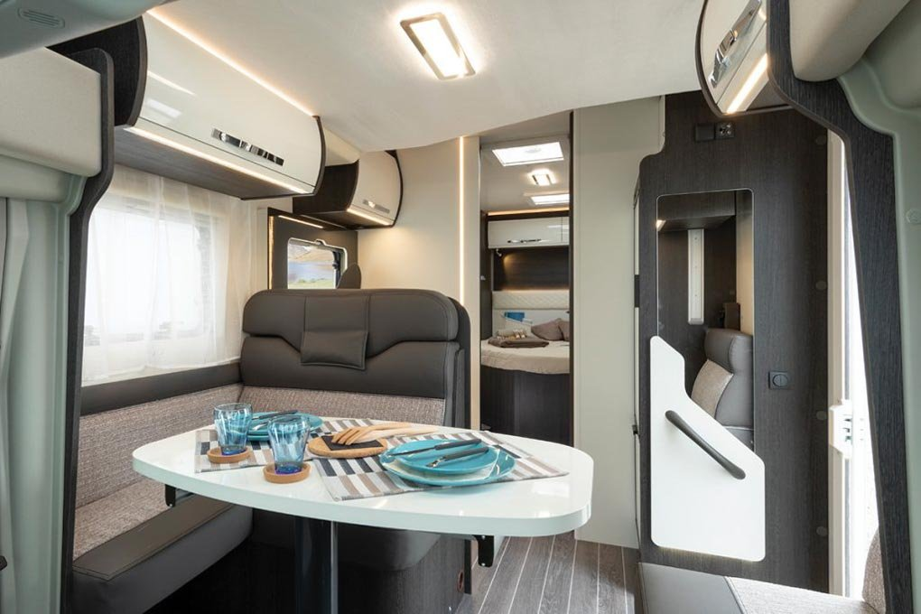 In inside of a New Zealand Motorhome rental vehicle