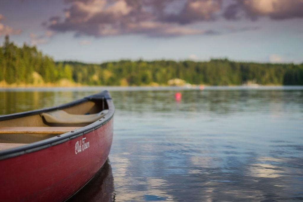 canoeing the south Saskatchewan river