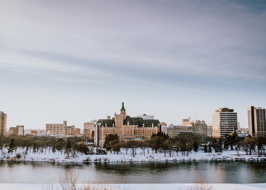 Views from the Meesawin trail saskatoon in winter