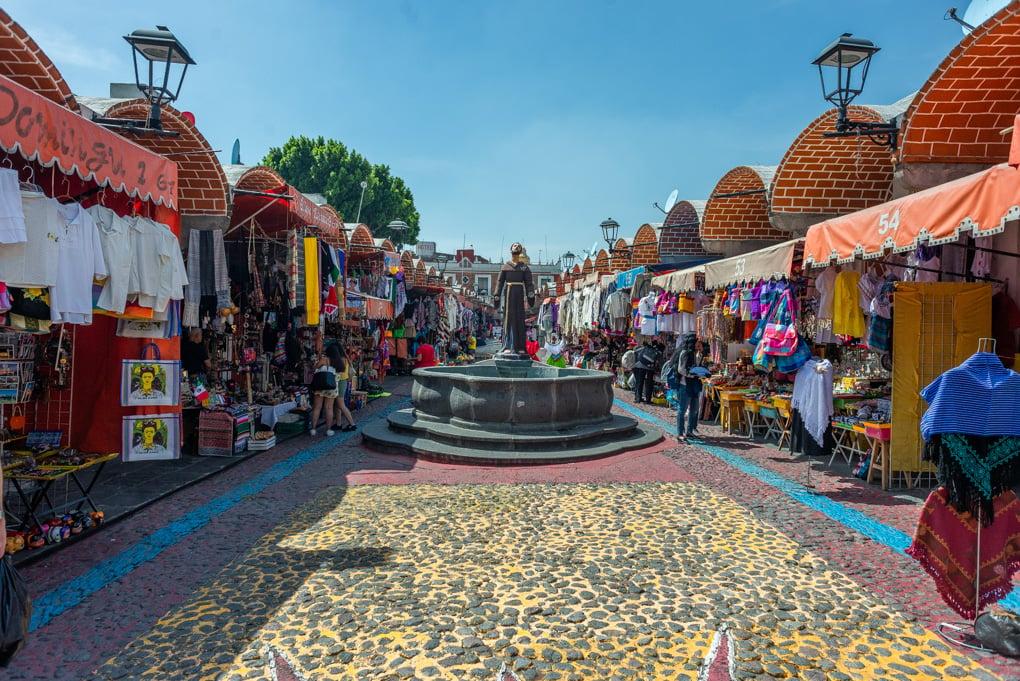 El Parian Market in Puebla, Mexico